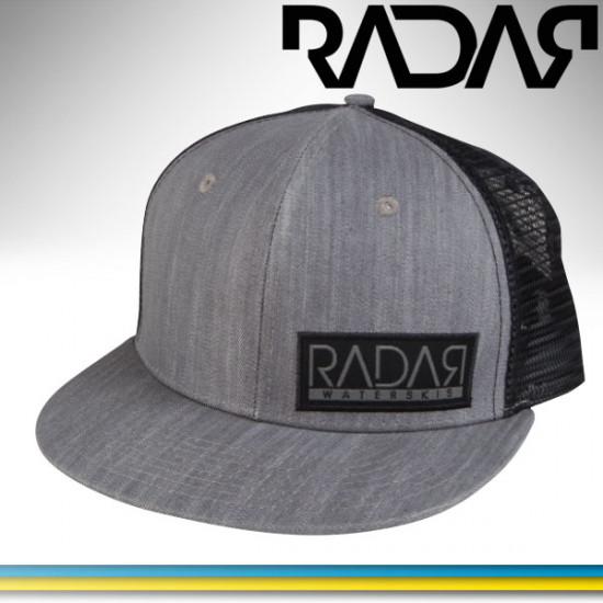 Radar Bill Black Patch Trucker hat