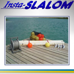 Insta-Slalom, Telescopic tube, stainless steel wire rope, buoys.