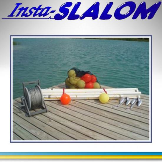 Insta-Slalom, Telescopic booms, polypropylene rope, buoys.