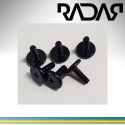 Radar skruvset platta-skida fram