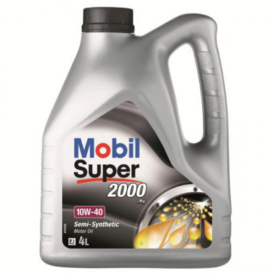 Mobil Super 2000, Semi Synthetic motor oil 10W/40, 4L